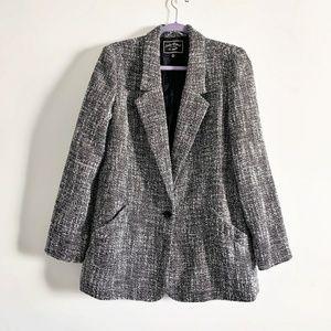 Lucky Brand Tweed Blazer Women's Size Medium Singl
